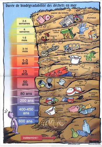 Durée de vie des déchets